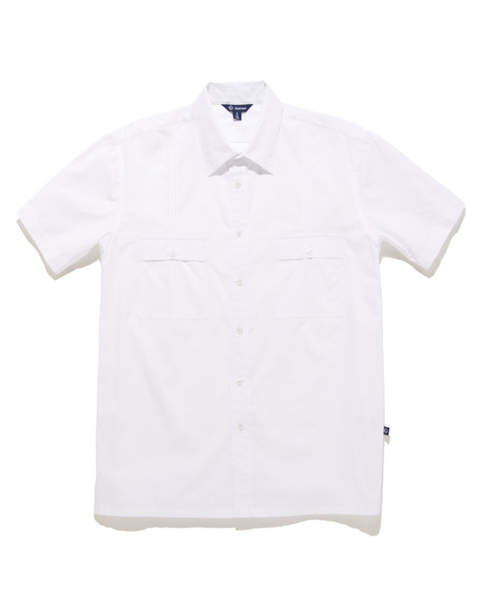 Aiden Button Down Shirt White - KoMocean Upscale Resort Wear