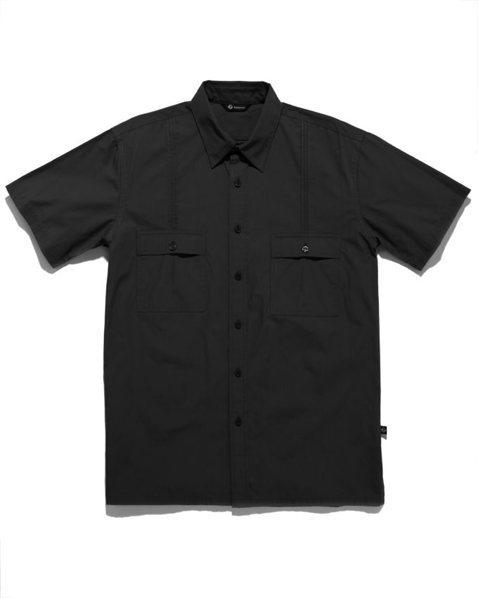 Aiden Button Down Shirt Black - KoMocean Upscale Cruise Wear 8127cb38d763