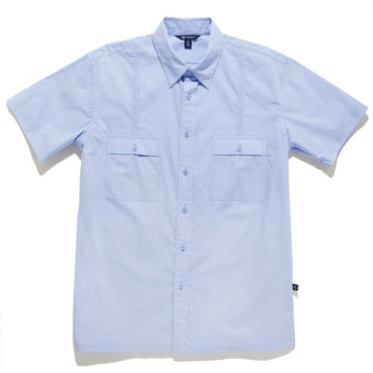 Aiden Button Down Shirt Silver Lake - KoMocean Mens Resort Wear
