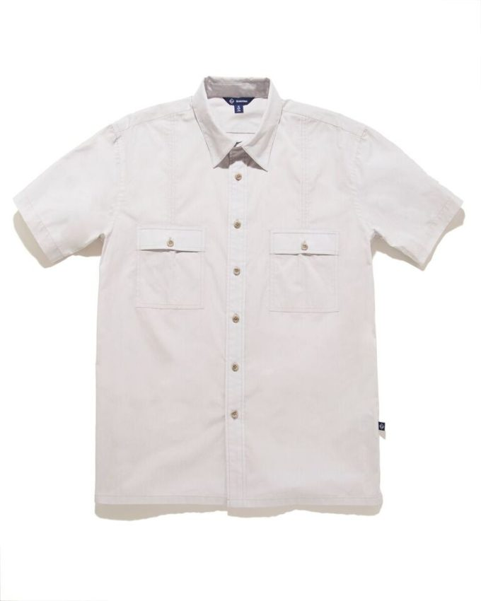 Aiden Button Down Shirt Ash - KoMocean Resort Wear